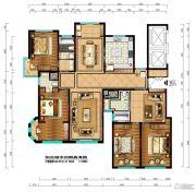 阳光城市・晶海园4室4厅3卫142平方米户型图