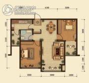 中鸿基名都2室2厅1卫93平方米户型图