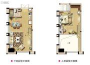 西海岸广场1室2厅1卫0平方米户型图