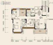 莱茵华庭4室2厅2卫132平方米户型图