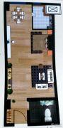 紫御尚都1室1厅1卫40--43平方米户型图