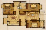 星叶羊山湖花园4室2厅2卫158平方米户型图