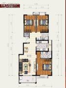 丰庆家园3室2厅2卫144平方米户型图