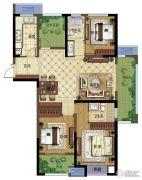 弘阳广场3室2厅2卫133平方米户型图
