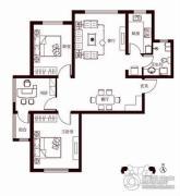 花香漫城3室2厅1卫110平方米户型图