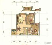 七彩云南第壹城2室2厅1卫97--104平方米户型图