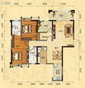 福庆花雨树2室2厅2卫121平方米户型图