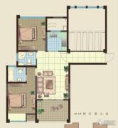 观山名筑2室2厅2卫90平方米户型图