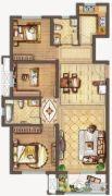 保利中央公园3室2厅2卫114平方米户型图