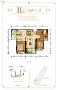 恒大御府3室2厅1卫0平方米户型图