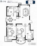 滨湖颐园3室2厅2卫126--127平方米户型图