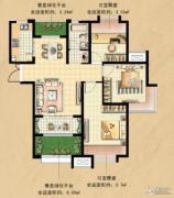 国基城邦逸境3室2厅1卫95平方米户型图