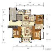 东泰・春江名园3室2厅1卫114平方米户型图