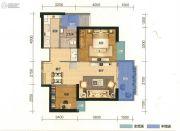 俊发盛唐城2室2厅1卫72平方米户型图