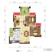 世茂茂悦府2室2厅1卫57平方米户型图