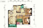 渝能嘉湾壹号3室2厅1卫88平方米户型图