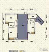 嘉州新城十期3室2厅2卫103平方米户型图