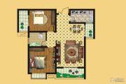 壹号公园2室2厅1卫88平方米户型图
