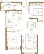 保利・金香槟3室2厅1卫98平方米户型图
