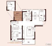 和昌湾景3室2厅1卫88平方米户型图