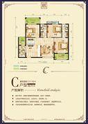 逸景华庭3室2厅2卫117平方米户型图