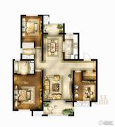 华润国际社区3室2厅2卫130平方米户型图