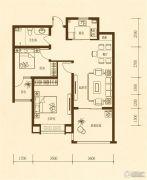 东方太阳城2室2厅1卫92平方米户型图