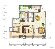 和世新都3室2厅2卫88平方米户型图