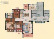 亿邦豪庭3室2厅2卫128平方米户型图
