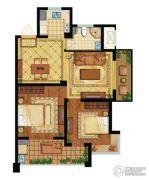 舟山黄金海岸2室2厅1卫88平方米户型图