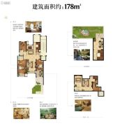 龙湖原府4室3厅2卫178平方米户型图