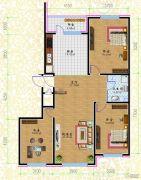 黎明荣府3室1厅1卫101平方米户型图