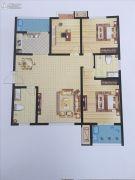 启迪国际城・逸居3室2厅2卫128平方米户型图