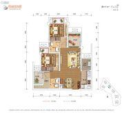 保利爱尚里2室2厅1卫66平方米户型图