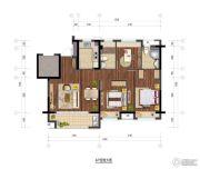 保利玲珑公馆2室2厅2卫0平方米户型图