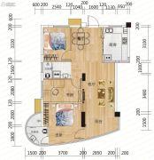 麓山枫情3室2厅1卫88平方米户型图