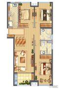 中骏柏景湾3室2厅2卫115平方米户型图