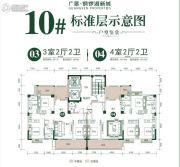 广垦铜锣湖新城3室2厅2卫116--142平方米户型图