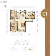 幸福湾3室2厅2卫128平方米户型图
