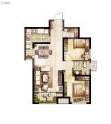 上和郡2室2厅1卫83平方米户型图