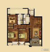海峡城3室2厅1卫114平方米户型图