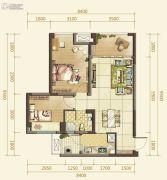 俊发星雅俊园2室2厅1卫72--110平方米户型图