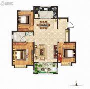 立成・桃源艺境3室2厅1卫110平方米户型图