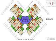 四季康城四期水岸城邦2室2厅1卫73平方米户型图