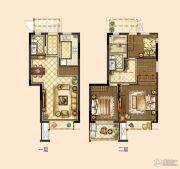 旭辉银城白马澜山3室2厅2卫90平方米户型图