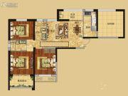 红星国际广场3室2厅2卫113平方米户型图