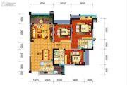 远大中央公园3室2厅2卫107平方米户型图