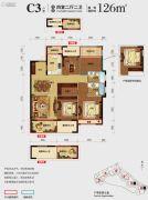 光大・玲珑郡4室2厅2卫126平方米户型图