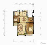 万邦名邸3室2厅1卫88平方米户型图