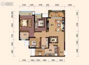 旭阳台北城敦美里3室2厅2卫74平方米户型图